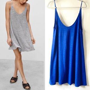 Wilfred Free Aritzia Rafaeli Blue Swing Dress